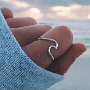 New 925 Sterling Silver Boho Wave Ring 6 7 8